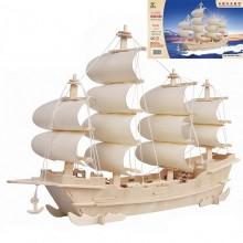 3D Деревянный конструктор SEA-LAND Модель Корабль