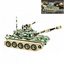 3D Деревянный конструктор SEA-LAND Модель Военный Танк ZTZ-99 Механический 3Д пазл