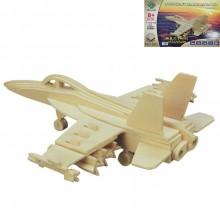 3D Деревянный конструктор SEA-LAND Модель истребитель-бомбардировщик Hornet F-18 Механический 3Д пазл