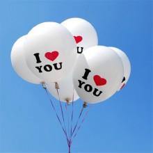 """Воздушные шары Joyle с надписью """"I LOVE YOU"""" (10 шт.)"""