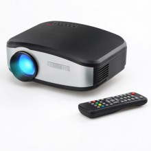 Портативный LED FULL HD проектор Cheerlux C6 HDMI, VGA, AV, USB Black/Silver