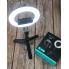 Штатив монопод (тренога) Bluetooth Selfie Stick L07 с кольцевой лампой 16см для телефона