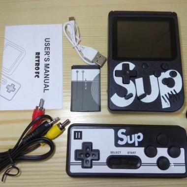 Портативная приставка c джойстиком Retro FC Game Box Sup dendy 400in1 Игровая консоль на 400 игр Black